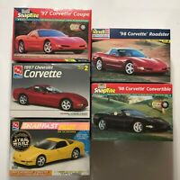 5 Sealed Revell/Monogram & AMT/ERTL '97 & '98 Corvette Plastic Kits + Bonus Kit
