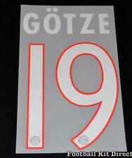 Bayern Munich Gotze 19 Football Shirt Name Set 2014/15 champions league