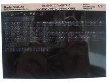 Honda GL1500 GL1500C GL1500CD Valkyrie 2001 - 2003 Parts Catalog Microfiche a449