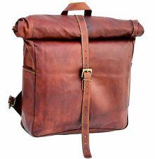 Vintage Handmade Genuine Leather Backpack Rucksack Laptop Messenger Bag Satchel