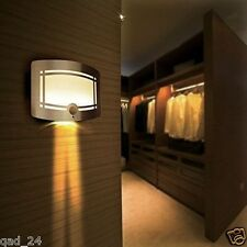 WIRELESS MOTION SENSOR INDOOR LED WALL SCONCE LIGHT BATTERY LAMP DOWN PATIO