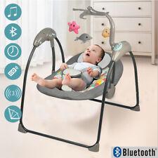 Elektrische Babywippe Babyschaukel mit 5 Schaukelstufen Schaukelwippe Spielbogen