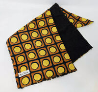 Vintage 1960s 60s 70s Mod Psychedelic All Silk Wool Pattern Scarf Geometric MB19