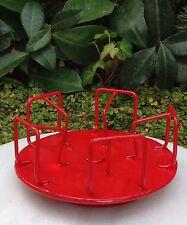 Miniature Dollhouse FAIRY GARDEN Furniture ~ Red Metal Spinning Merry-Go-Round