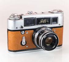 FED 4 Film Rangefinder / Brown Leather / LightBurn Camera / 52mm f2.8 Lens