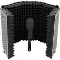 Auray RF-5P-B Reflection Filter Lightweight Portable Sound Isolation - Black --