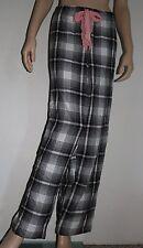 Alfani Intimates XXL Black Pink White Plaid Flannel Pajama Bottom Sleepwear NEW