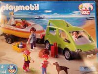 Playmobil 4144 Family Van Boat Trailer Vacation Set Vintage