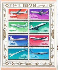 Corea Aviones comerciales Hojita del año 1978 (CX-825)
