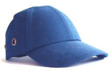 Safety Baseball Cap Hard Hat Bump Cap Royal Blue Vented Velcro Fastening