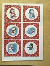 24 Christmas Disney Set 1 Card Toppers //Scrapbooking Embellishments.