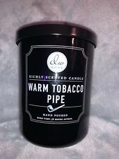 DW HOME Richly Scented Candle - Warm Tobacco Pipe - 15oz - Large jar