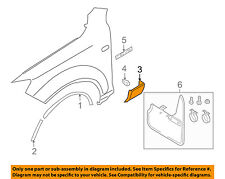 AUDI OEM 07-09 Q7 Front Fender-Lower Molding Trim Panel Left 4L0854959A1RR