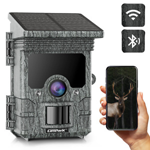 Campark Solar Panel Trail Hunting Outdoor Camera 24MP 2K Native WiFi Bluetooth