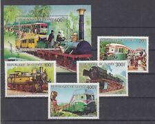 Railway - Locomotives Guinea 1118-21+ Block 224 (MNH)