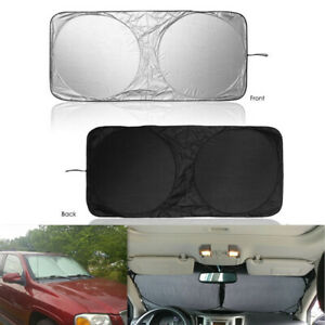 1Pc Folding Silvering Reflective Car Window Sun Shade Shield Cool Cover Screen