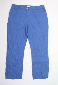 EAST Womens Blue  Canvas Trousers  Size 14 L27 in