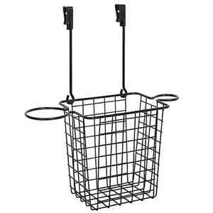 Over The Cabinet Styling Caddy In Matte Black/Nickle Bathroom Kitchen Organize