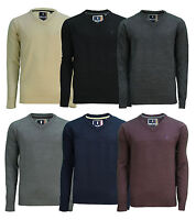 Soul Star New Men's V-Neck Jumper Acrylic Vee Sweater Thin Knit Pullover