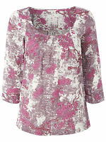 New White Stuff size 8 - 18 Pink Ivory BLOSSOM Floral Print Pleated Top Blouse
