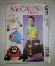 "McCall's 6720 14"" Hopping Ball Covers Shark Ladybug Moose Lamb"