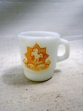 Invicta The Carleton and York Regiment Fire King Coffee Mug Anchor Hocking 1959
