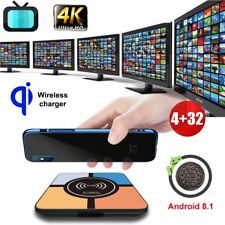 S10PLUS 4+32G Android 8.1 Oreo Wireless Charger Quad Core Smart TV BOX HDR 4K US