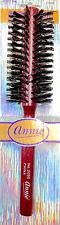 """Annie Beard Wooden Boar Bristle Round Woods Hair Brush 2 1/8"""" Diameter - 2095"""