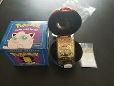 Pokemon Burger King 23K Gold Card Jigglypuff Pokeball Sealed Blue BOX