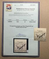 WTDstamps - #RW3 1936 Plate# - US Federal Duck Stamp - Mint OG NH **PSE Cert**