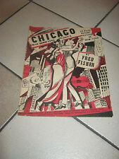SPARTITO 1922,CHIGAGO BY FRED FISHER,SUCCESSI NEW YORK,R.DE VALERIO,MUSICALE