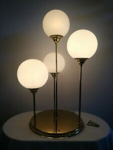 Beautiful vintage four opaline glass globe ceiling and wall light