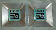 PAIR of Gila McKusick Framed Ceramic Tiles Desert House Crafts