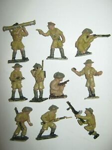 Lone star Australian soldiers 10 in all 10 poses V/G condition no damage set 1