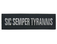 SIC SEMPER TYRANNIS CAESAR MORALE BADGE Embroidered HOOK PATCH  A 1169