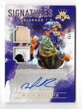 WILIN ROSARIO MLB 2017 DIAMOND KINGS DK SIGNATURE MATERIALS HOLO GOLD (ROCKIES)