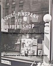 Old Antique New York City NYC Barber Shop Barber Pole Razor Depression Era Photo