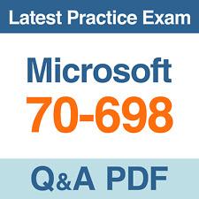 Microsoft 70-698 Practice Exam Installing and Configuring Windows 10 Q&A PDF