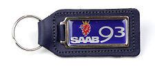 Saab 93 Quality BLUE Leather Keyring
