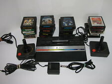 ATARI 2600 JR CONSOLE 20 GAMES 2 JOYSTICKS RF ADAPTER TESTED WORKS