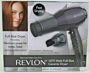 Revlon 1875 Watt Full Size Ceramic Hair Dryer With Concentrator Attachment