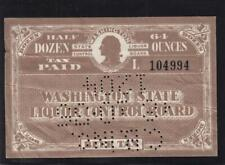 Washington State: Beer Tax Stamp, #B8a, 1/2 dz/64 oz, Used (32007)