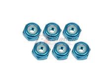 3RACING 2mm Alu Lock Nuts 6 Pc L Blue RC Mini-Z MR02 MR03 MM RM Chassis Car 20LB