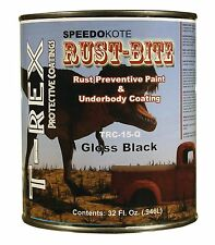 Paint over Rust with Underbody Gloss Black Paint, Quart, TRC-15-Q, RUST-BITE