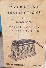 Dremel 2000 Electric sander Polisher, antique with metal case, acces 1950's