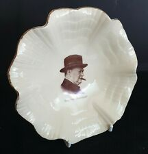 More details for ww-ii j & g meakin sol 'sunshine' plate featuring winston churchill circa 1939