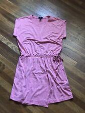 Womems GAP Drop Waist with Drawstring Tee Shirt Dress, Heather Red, Size Small