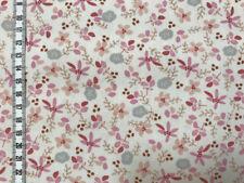 Jolie Petal - rosa Blüten auf weiß - Baumwollstoff