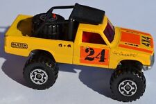MATCHBOX Lesney Superfast N. 63 4X4 OPEN BACK TRUCK TOYOTA-argento dipinto base