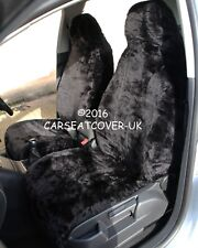 Smart Fortwo (2014 -) Panther Negro Imitación Piel cubiertas de asiento de coche - 2 X frentes